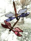 Handmade Stained Glass DRAGONFLY SuncatcherDF097