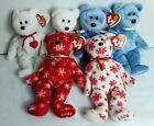 Ty Beanie Babies Lot of 6 ClubbyII Valentino Snowbelles Some With Tag Errors