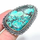 Tibetan Turquoise Gemstone 925 Solid Sterling Silver Jewelry Ring Size Adjs