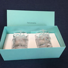 TIFFANY  CO Ribbon Glass Cup set of 2 w Original Box from Japan New