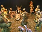VINTAGE 1960s FONTANINI DEPOSE ITALY NATIVITY 75 19 cm SET 21 FIGURES
