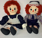 Lot Of 2 1986 Gruelles Classic Raggedy Ann and Andy 8464  8465 Applause