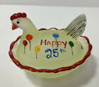 Boyd Art Glass Chick Salt Hen On A Nest Happy 25th 1978 2003 Limited Edition