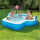 Family Inflatable Mosaic Swimming Pool Lounge 10 Feet Long 2 Inflatable Seats wi