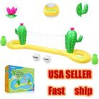 Adult Kid Inflatable Volleyball Set  Ball Floating Swimming Pool Game Toy Fun