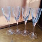 Royal Doulton Crystal Stemware Wine Glass Flutes Champagne Lot of 4