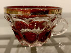 Vintage  Unique Ruby Red Gold Trimmed Crystal Punch Cup No cracks or chips