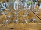 7 BACCARAT CRYSTAL WATER WINE GLASS MONTAIGNE NON OPTIC PATTERN FRANCE 6 3 8