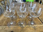 6 BACCARAT CRYSTAL WATER WINE GLASS MONTAIGNE NON OPTIC PATTERN FRANCE 6 3 8