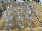 6 BACCARAT CRYSTAL WATER WINE GLASS MONTAIGNE NON OPTIC PATTERN FRANCE 7 tall