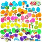 JOYIN 48 Toys Filled Easter Eggs 25 Inches Bright Colorful Prefilled Plastic