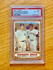 1962 TOPPS #18 MANAGER'S DREAM. WILLIE MAYS MICKEY MANTLE PSA 6