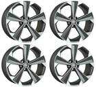 4 Alloy wheels Oxigin 22 OXRS 9x20 ET35 5x112 TITANP for Bentley Continental