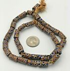 VINTAGE African Trade Glass Beads Old Antique Natural Round Necklace