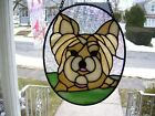 Stained Glass Yorkie Dog Sun catcher Real Glass