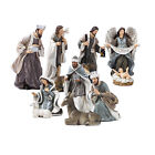12x Resin Hand Painted Nativity Set Playset Miniatures Ornament Religious Gifts