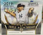 2019 TRADING CARDS - TOPPS TRIPLE THREADS - HOBBY MASTER BOX - FACTORY SEALED