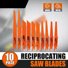 10Pc Reciprocating Saw Blades Set For Wood Metal Timber Cutting