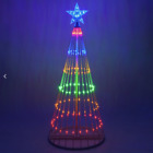Multi Color LED Light Show Christmas Tree Animated Outdoor Decoration NEW
