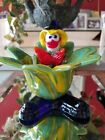Vintage Murano Art Glass Clown Candy Dish Bowl 6 inches tall