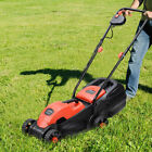 Costway 12 Amp 14 Inch Electric Push Lawn Corded Mower With Grass Bag Red