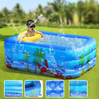 180cm 3 Ring Inflatable Family Swimming Pool Outdoor Backyard Inflated Tubs Kids