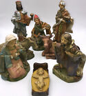 Vintage Italian Nativity Set Christmas Manger Scene 8 Figurines Made In Italy