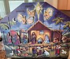 BYERS CHOICE Traditions Wooden Nativity Scene Advent Calendar 2006 No box