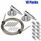 10 Pack 65ft 2m Suspension Cable Wire Hanging Hangers 100 Clips for Hang Photo