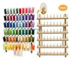 63 Colors Polyester Embroidery Machine Thread with 60 Spools Thread Rack