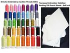 40 Colors Polyester Embroidery Machine Thread with Tearaway Stabilizer Backing