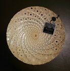 13 Hand Decorated Glass Bowl Metal Bottom By Artistic Accents Made In Turkey