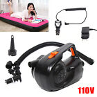 Electric Air Pump Inflator Deflate 5 Nozzles for Air Bed Mattress Boat 110V