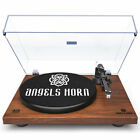 Vintage Record Player 2 Speed Vinyl Turntable 333Rpm  45Rpm with Angels Horn