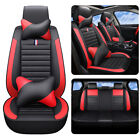 Auto Parts  Accessories Car Seat Cover Luxury PU Leather Protector Cushions Red