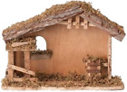 10 Inch High 13 Inch Wide Fontanini Nativity Stable By Roman 5 Inch Scale