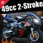 49cc 2 Stroke KidsTeens Mini Gas Power Pocket Bike Motorcycle With Lamp