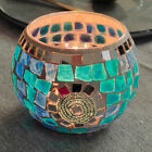 Turkish Mosaic Stained Glass Candle Holder Home Table Decoration Vintage Artwork