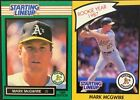Mark Mcgwire starting lineup 1989 Green and Yellow Card!