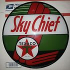 SKY CHIEF TEXACO 135 GLASS FACE for GAS PUMP GLOBE GREEN RED WHITE