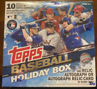 Topps Holiday 2016 Baseball 10 Pack Box 1 auto or relic box **SeePictures**