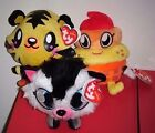 Ty Beanie Baby Set  COOLIO, JEEPERS & WHITE FANG (UK Exclusives)(Moshi Monsters)