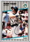 1989 Fleer Robin Yount #200 In Person Autograph IP Auto