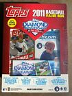 2011 Topps Update Value Box w 5 Packs + 1 Bowman Chrome Hobby Pack Mike Trout RC