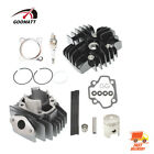 50cc Engine Piston Cylinder Head Top End Kit For 1979 2017 Yamaha PW50 QT50