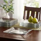 Mainstays Square Glass Appetizer Salad Plates Catering Pack Set of 12