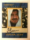 Junior Seau AUTO # 3000 Laserview Inscriptions 1996 Pinnacle Autograph SP HOFer