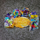 Sages Treasures Captured Rainbow Blk Ink Dichroic Glass Polyhedral Dice Set
