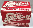1989 Topps Traded Series Baseball Complete Set Card Numbers 1-T Through 132-T