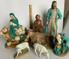 7 Large Vintage Piece Nativity Set Atlantic Mold Not complete Christmas